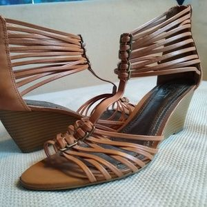 Ann Taylor Loft Strappy Wedge Sandals - size 8M